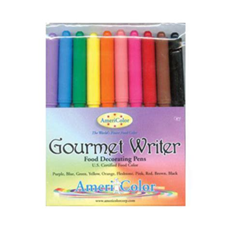 americolor gourmet writer food decorating pen assorted