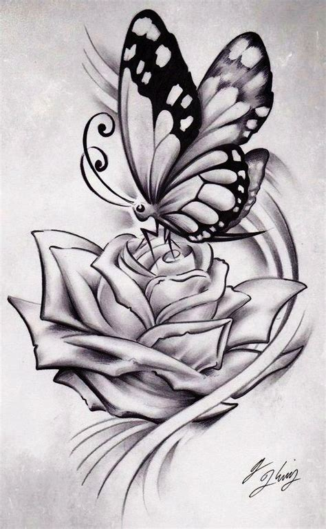 butterfly on a rose tattoo by j king 21 deviantart graphic design logos