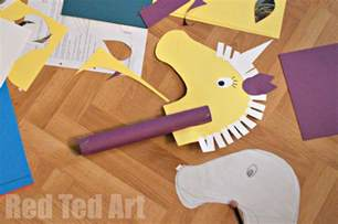 unicorn hobby horse craft red ted art s blog