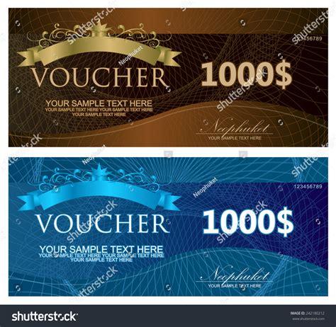 ticket voucher template voucher coupon gift certificate ticket template