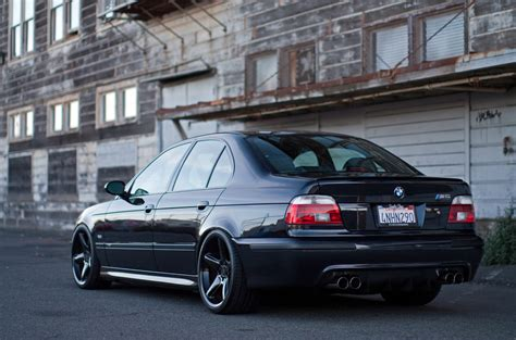 stanced bmw m5 stanced e39 m5 gets double teamed