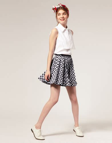 8 Skirts To Fall For by Asos Check Skirt 8 Skirts To Fall For