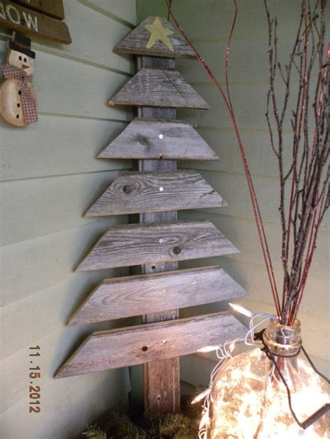 reclaimed wood christmas tree front porch