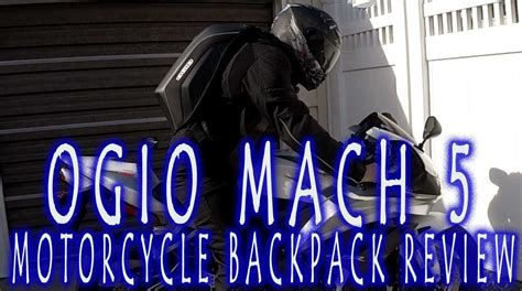 Gear Review   Ogio Mach 5 Motorcycle Backpack   YouTube