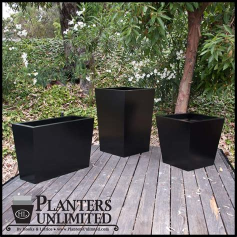 Modern Commercial Planters by Modern Tapered Fiberglass Commercial Planter 72in L X 18in
