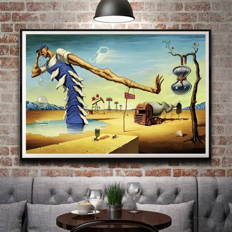 dali 16 art stickers abstract painting salvador dali surreal artwork vintage art silk poster home decor 12x18 16x24