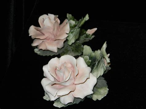 Antique Capodimonte Ls by Vintage Capodimonte Center And Candle Holders
