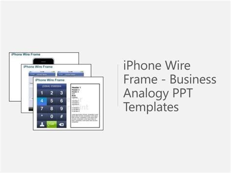 iphone powerpoint template iphone wire frame powerpoint template