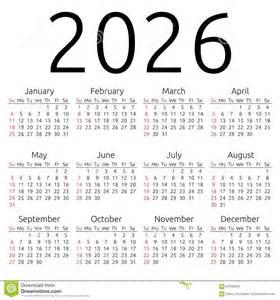 vector calendar 2026 sunday stock vector image 62409235