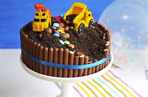 birthday cake recipes  kids digger cake goodtoknow