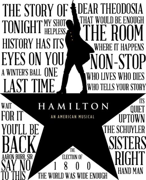 printable hamilton lyrics hamilton musical logo google search musical hamilton