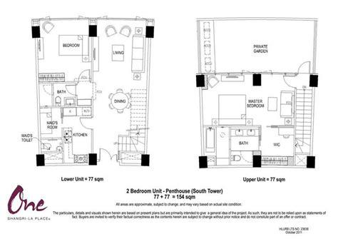 floor plan la one shangri la place south tower individual floor plans