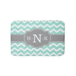 grey chevron bath mat monogram bath mats zazzle