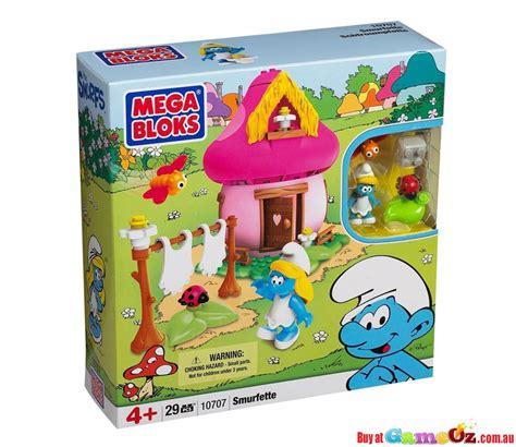 mega bloks house mega bloks smurfette mushroom house playset