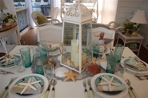 theme table beach themed table setting with sailboat napkin fold and