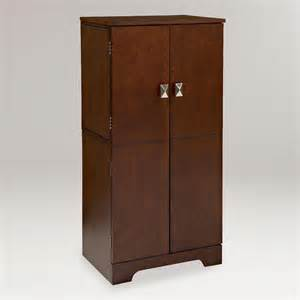 espresso alison jewelry armoire world market