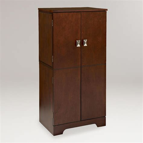 armoire jewelry espresso alison jewelry armoire world market