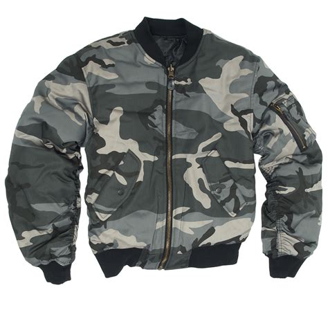 Flight Bomber X Urband Absolute Black mil tec tactical ma 1 mens flight jacket army pilot bomber
