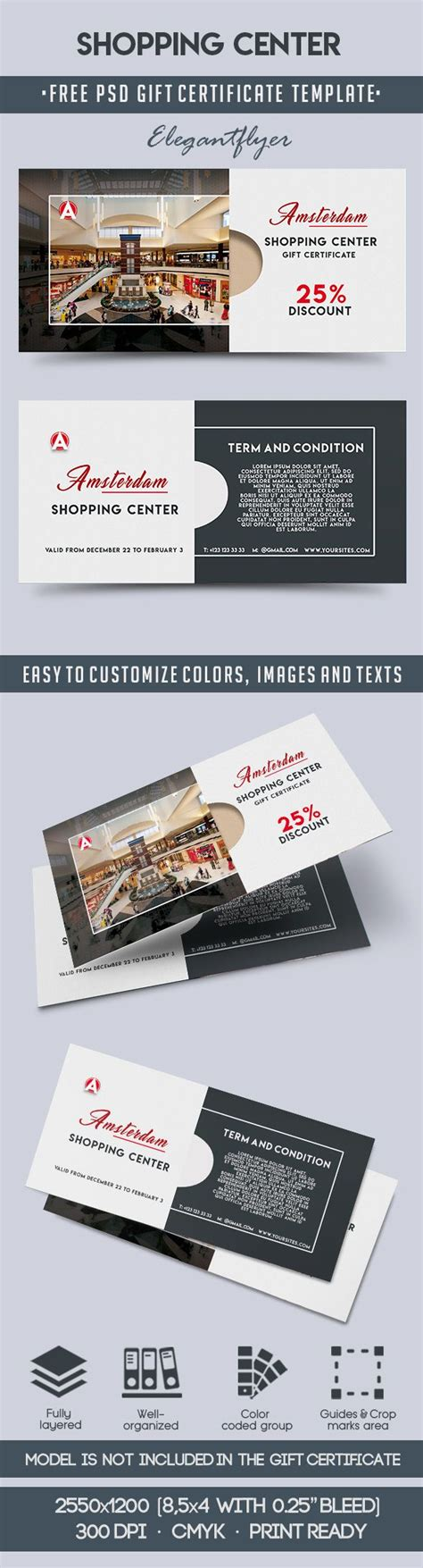 gift card template free psd shopping center free gift certificate psd template by