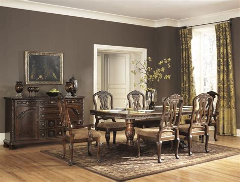 north shore dining room set north shore double pedestal dining room set from ashley
