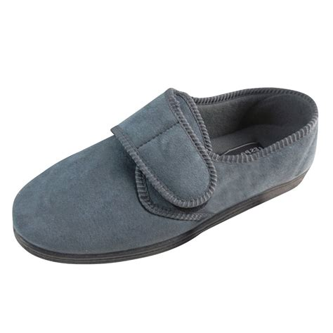 velcro slippers for new mens classic velcro luxury quality wide slippers size