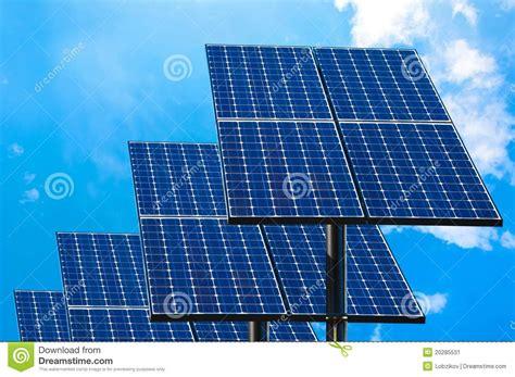 green technology solar panels stock image image 20285531