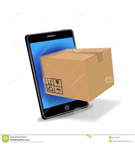 Smart Phone Smart Shopping by Shopping With Smart Phone Stock Images Image
