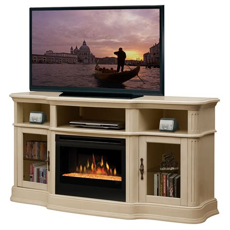 media stand with fireplace dimplex portobello parchment electric fireplace media console with glass embers gds25g 1245p