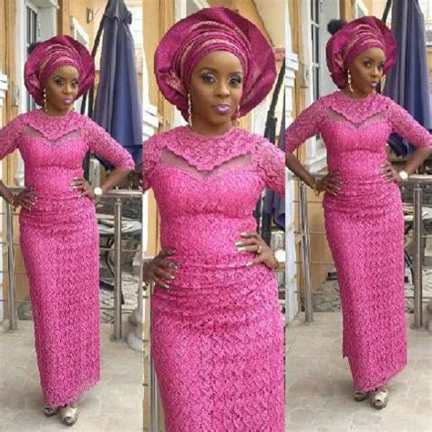 aso ebi styles iro and buba bella naija cord lace styles top beautiful selection