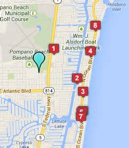 map of florida pompano pompano hitheatre hotels pompano florida