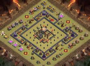 Best Th9 War Bases Anti 2 Star With Bomb Tower 2016 Cocbases » Ideas Home Design