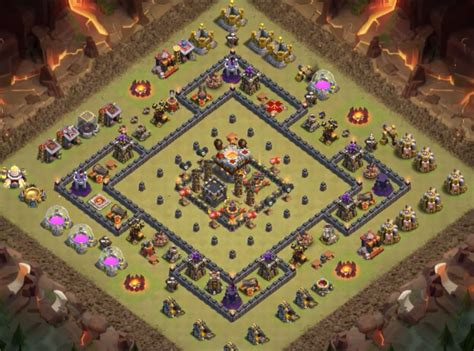layout coc base war th9 12 top th9 war base anti everything 2018 new bomb