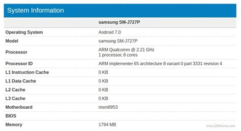 Samsung Galaxy J7 Specification samsung galaxy j7 2017 specifications leaked on benchmarking site ahead of launch bgr india
