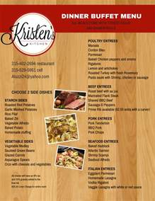 buffet menu dinner buffet menu