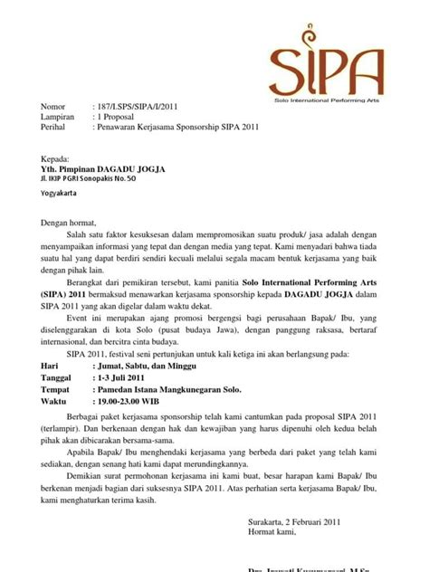 contoh surat penawaran kerjasama  wajib diketahui