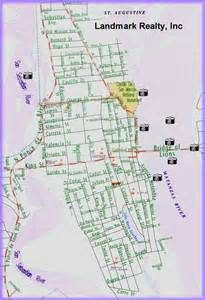 map of downtown st augustine florida map of downtown st augustine