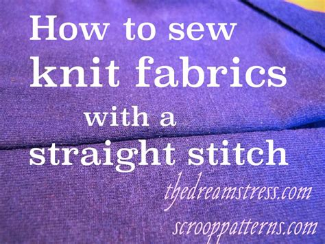 how to sew knit fabric on a sewing machine sewing knit fabrics with a stitch stretch as