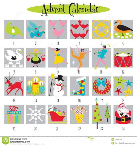 What Calendar Days Are The 12 Days Of 12 Days Of And Advent Calendar Stock Photo