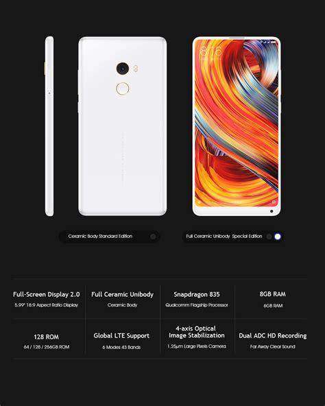 Xiaomi Mi Mix 128gb Black xiaomi mi mix 2 5 99 inch 8gb 128gb smartphone black