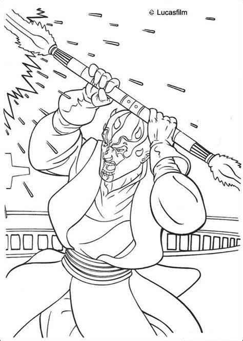 star wars darth maul coloring page darth maul with a laser sword coloring page more star