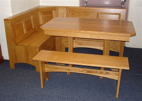table benches kitchen fork work looking for breakfast nook bench design