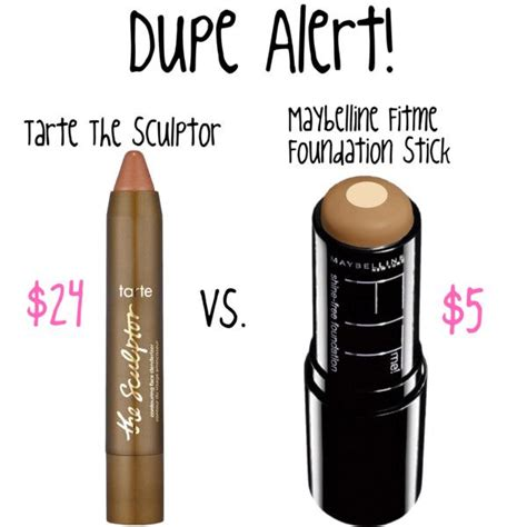 Maybelline Contour Stick dupe alert tarte the sculptor vs maybelline fitme