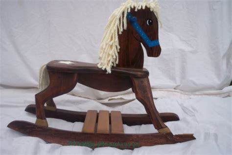 Handmade Wooden Rocking Horses - handmade sheriff wooden rocking by rmdcreations