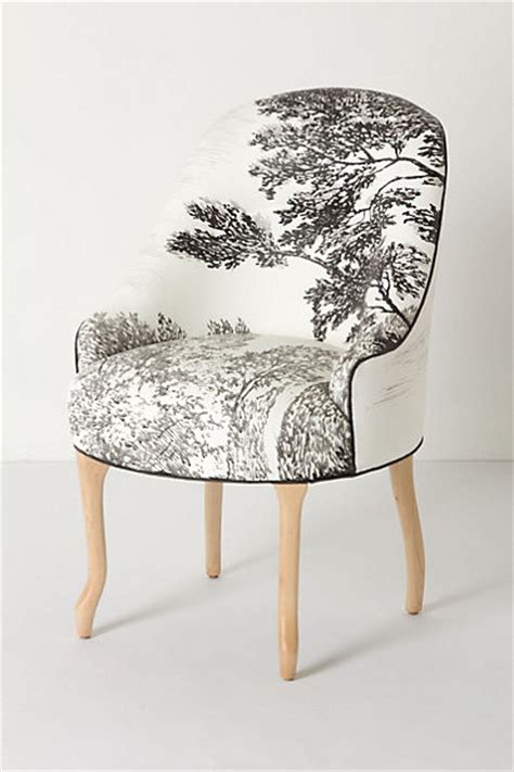 handpainted toile pull up chair eclectic armchairs and