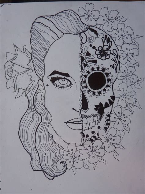 pinup candy skull thing by giaml on deviantart