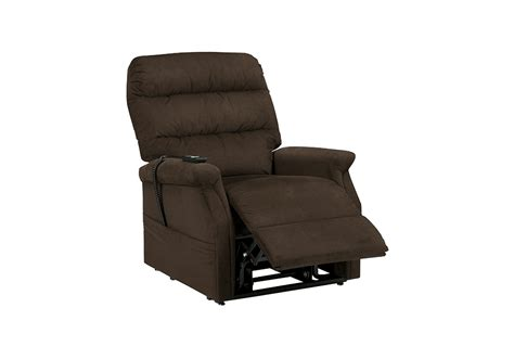 recliner overstock brenyth chocolate power lift recliner lexington