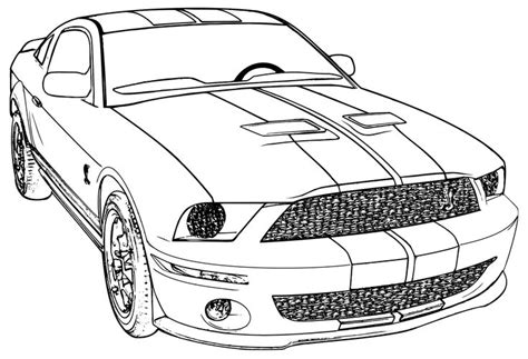 coloring sheets mustang cars mustang car coloring pages coloringstar