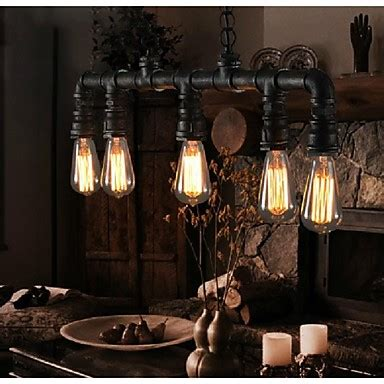 Vintage Style Painted Metal And Chandelier 4 Light Shades Of Light Max 40w Traditional Classic Vintage Lantern Country Retro Mini Style Painting Metal