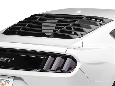 mustang rear window louver mmd mustang abs rear window louvers 389636 15 17 all