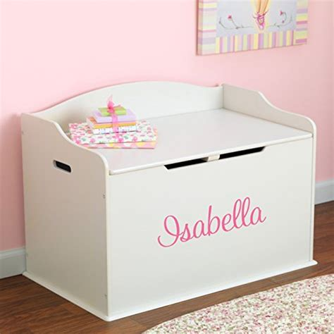 Bench Toy Storage Personalized Modern Touch Toy Box For Girls White With